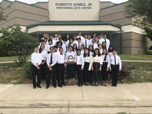Cathey Band and Orchestra Students