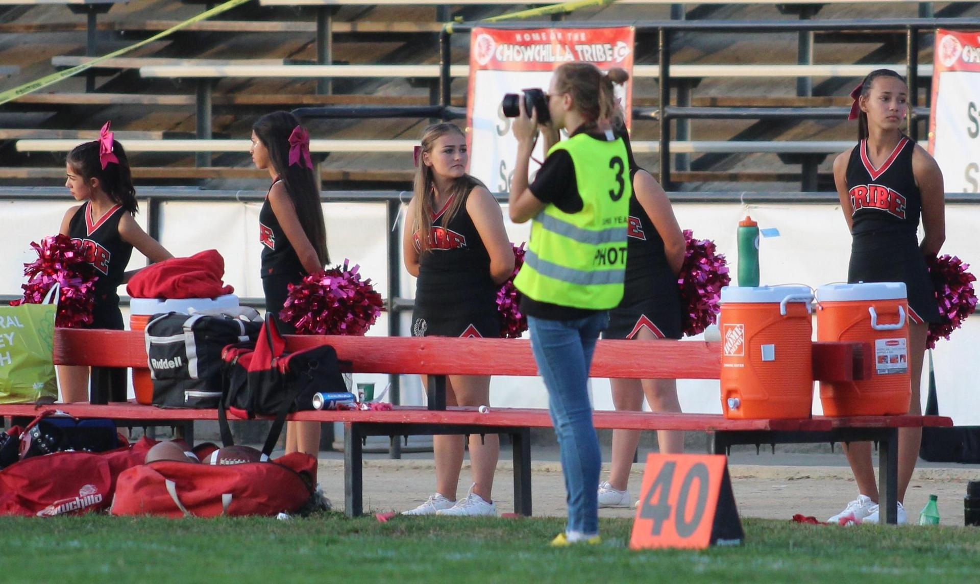 Yearbook students at work