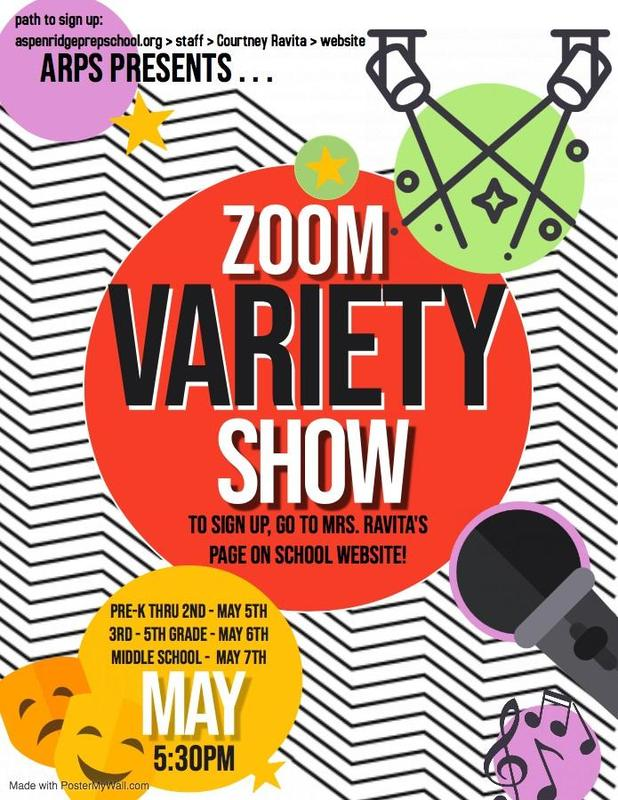 Zoom Variety Show Flyer