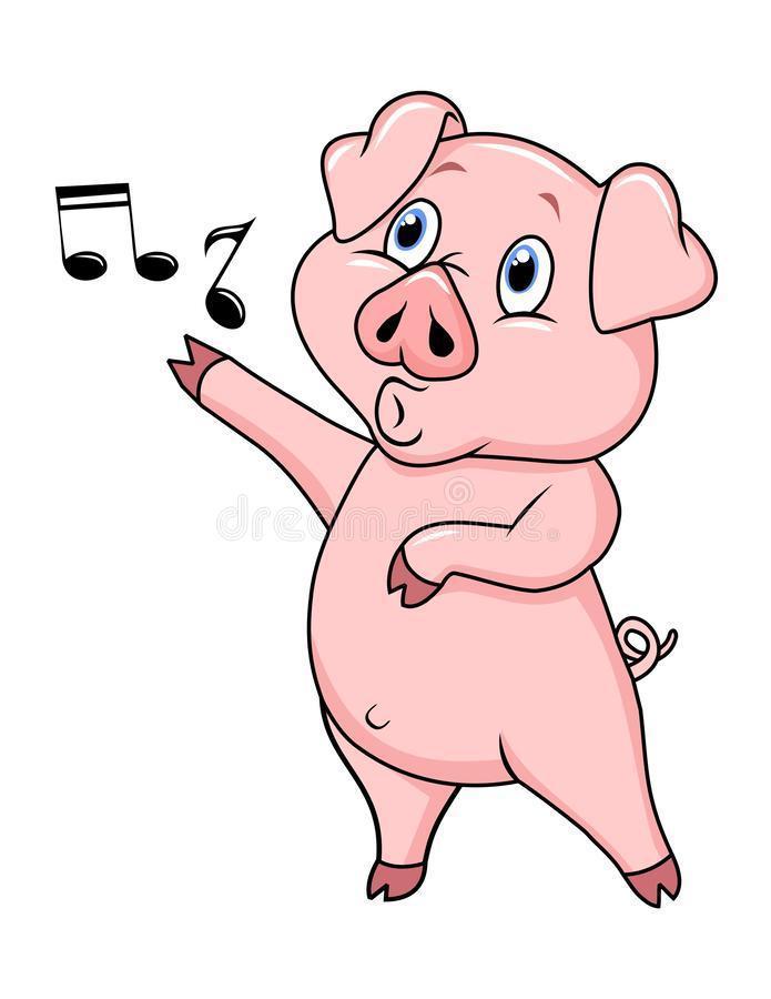 Cute singing piggy!