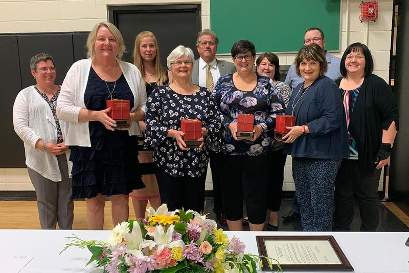 D124 Retirees, longtime employees honored Thumbnail Image
