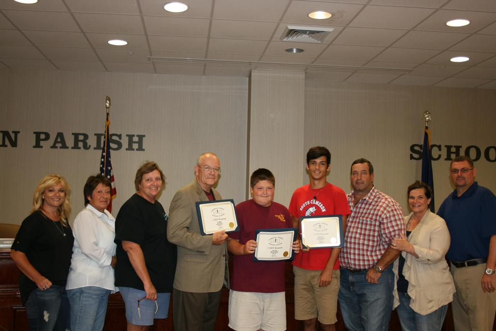 District Winners with School Board Members