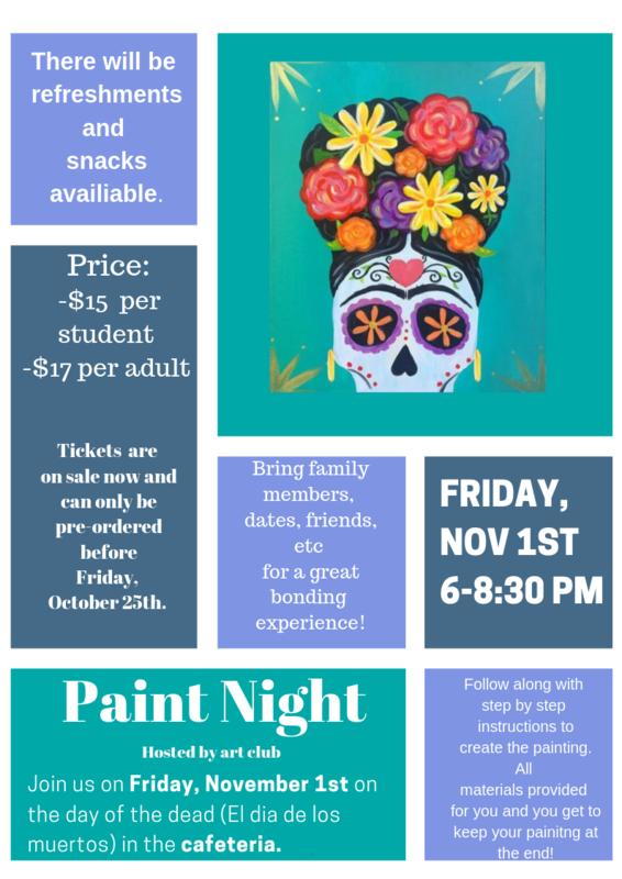 Maspeth High School Art Club Hosts Paint Night Featured Photo