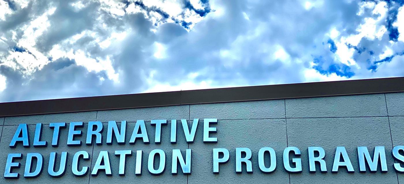 alternative education programs sign outside