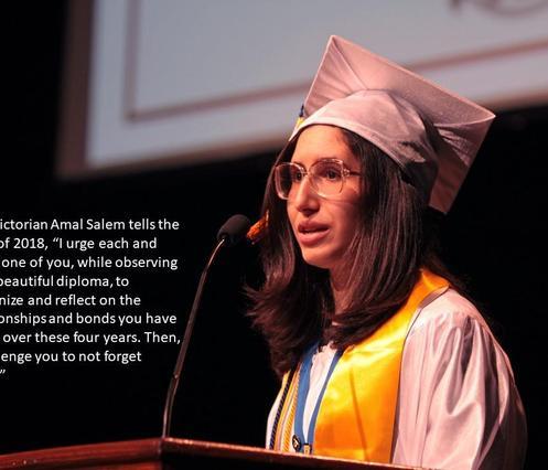Valedictorian Amal Salem.