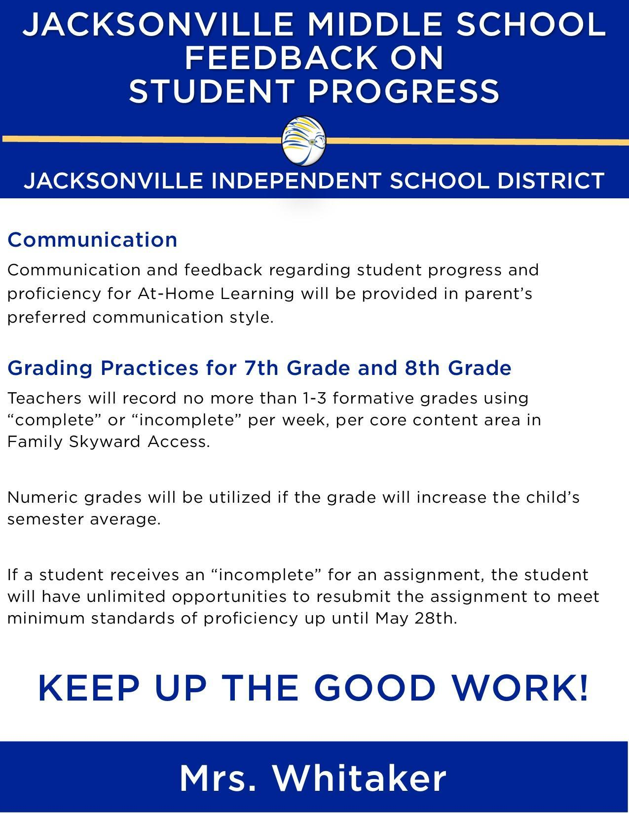 grading policy for jms