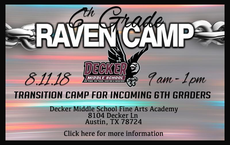 Raven Camp - Transition camp for incoming 6th graders Thumbnail Image