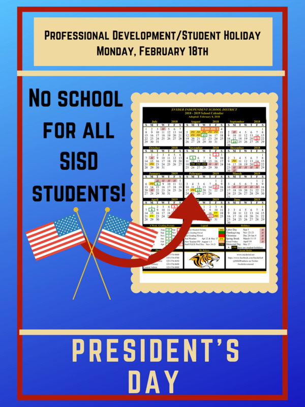 No Classes For SISD Students Monday, Feb. 18th. Featured Photo