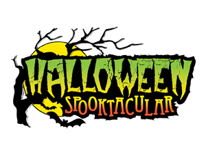 sign saying Halloween Spooktacular with a branch