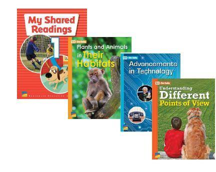 Images of 3 student textbooks. All text books are samples of the benchmark curriculum.