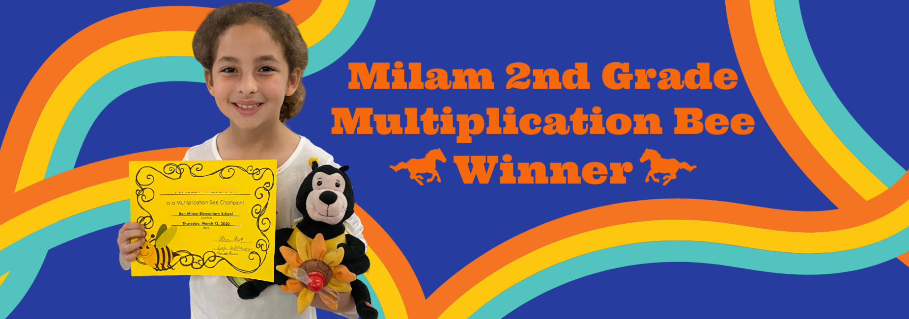Milam 2nd Grade Multiplication Bee Winner