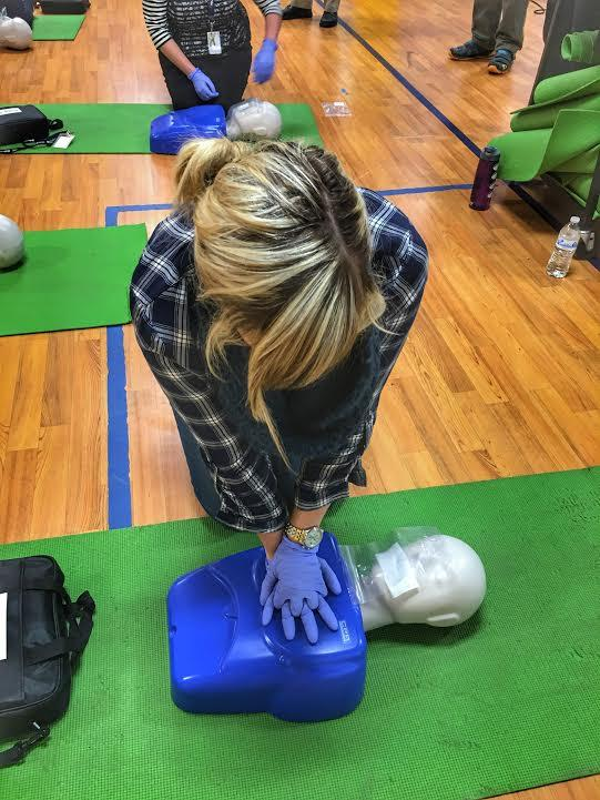 Staff learn CPR
