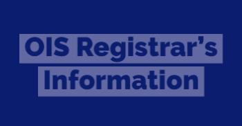 Registrar's info