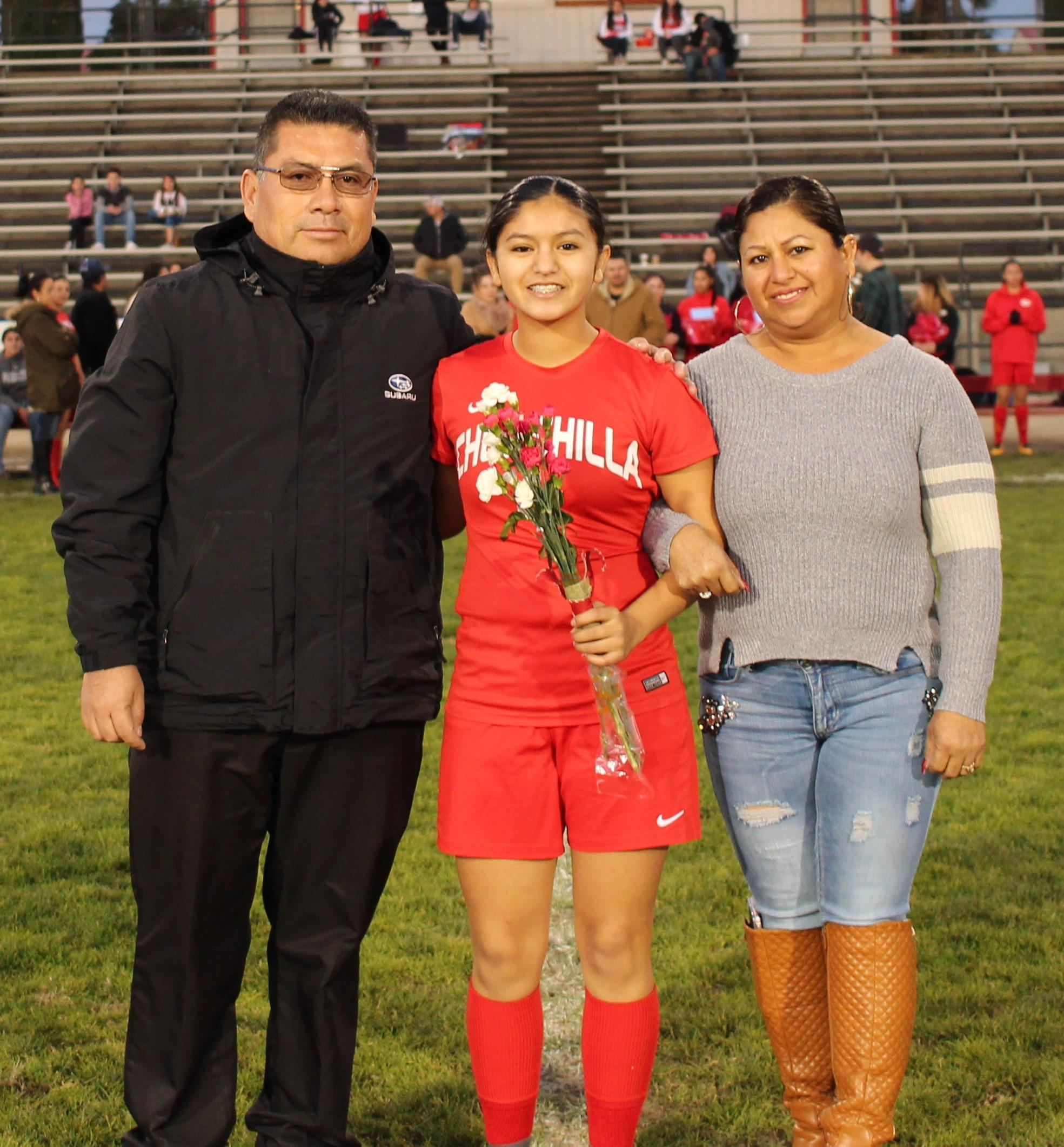 Francesa Salas at soccer senior night
