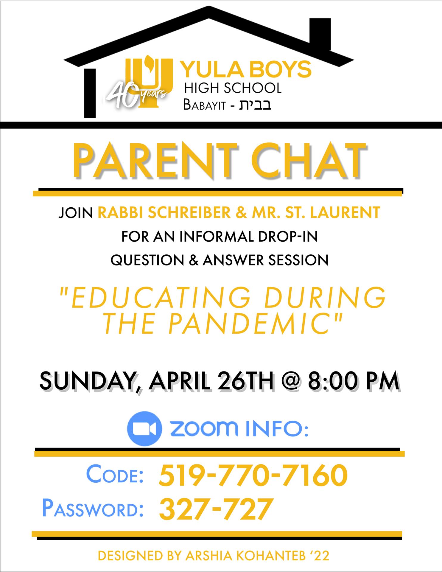 Parent Chat Week 4