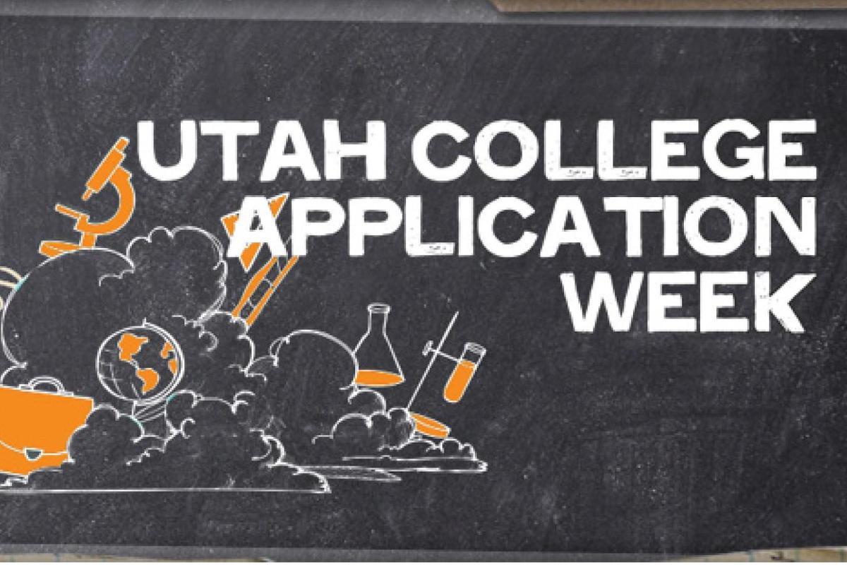 Utah college application week poster
