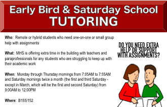 Early Bird & Saturday School Tutoring Featured Photo