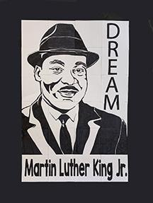 2nd graders made a mural of ML King Jr