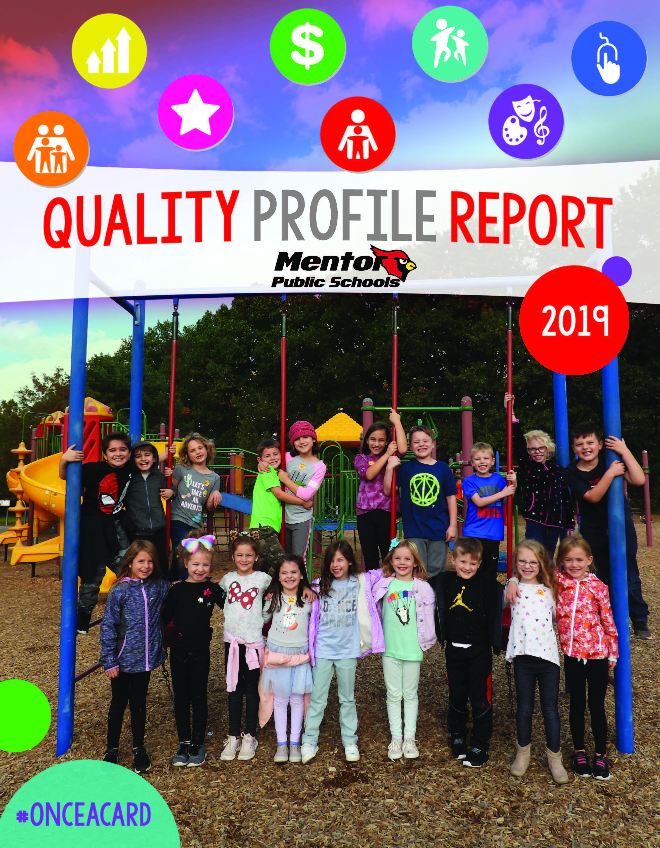 Cover of the Quality Profile Report Including children playing on the playground