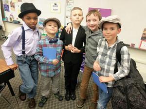Students at the Ellis Island reenactment