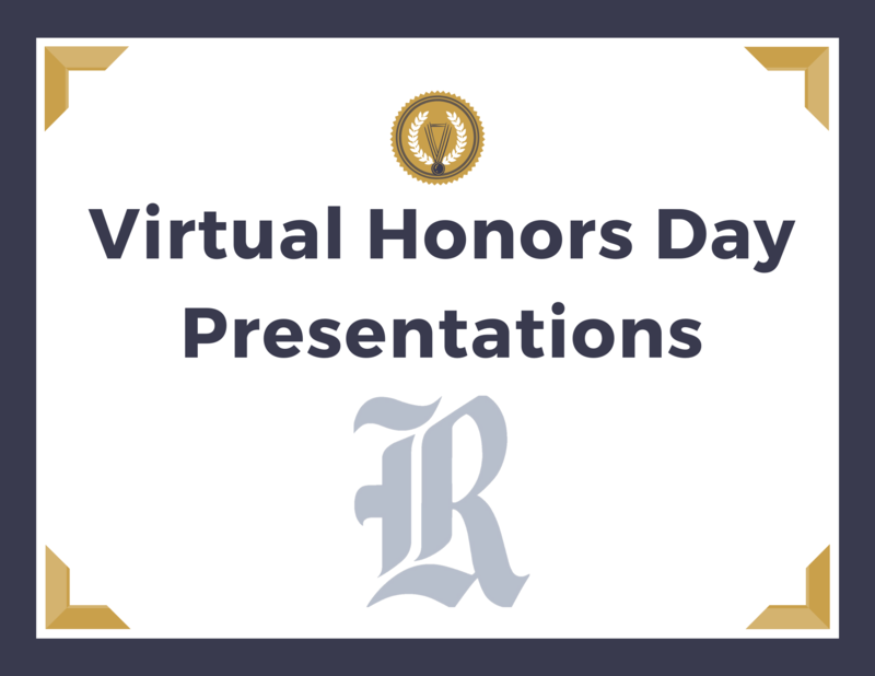 Virtual Honors Day Presentations Featured Photo