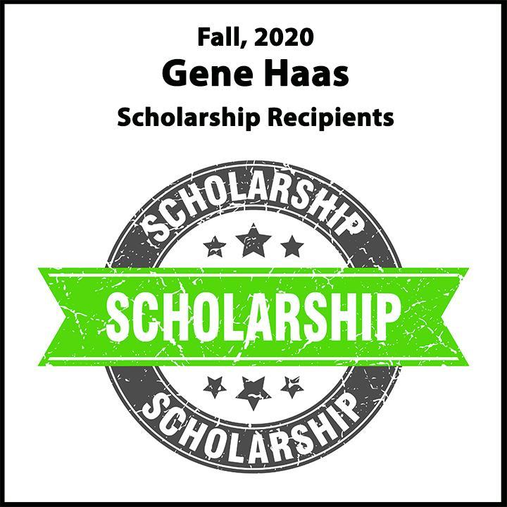 Gene Haas Scholarship winners