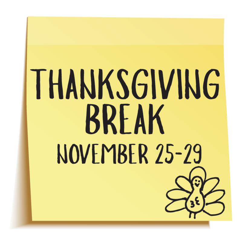 Thanksgiving Break November 25-29 Thumbnail Image
