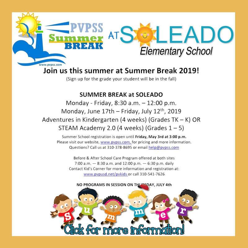 PEF Summer Break at Soleado ☀️ Thumbnail Image
