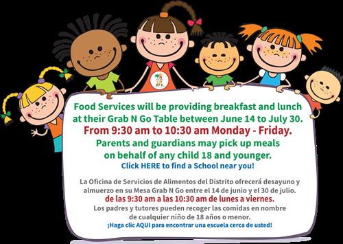 Summer Free Meals Flyer Image