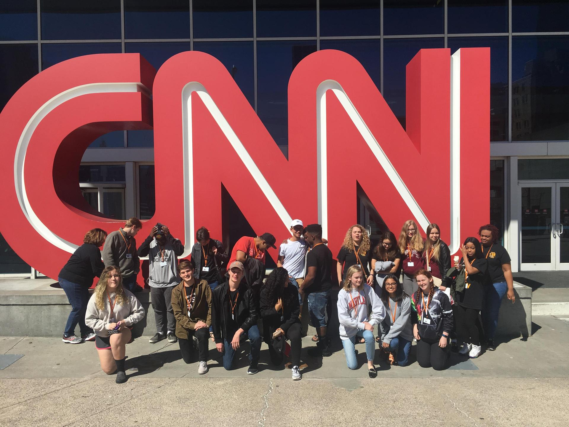 Varsity Team toured CNN Center before the tournament started at Lassiter High School.
