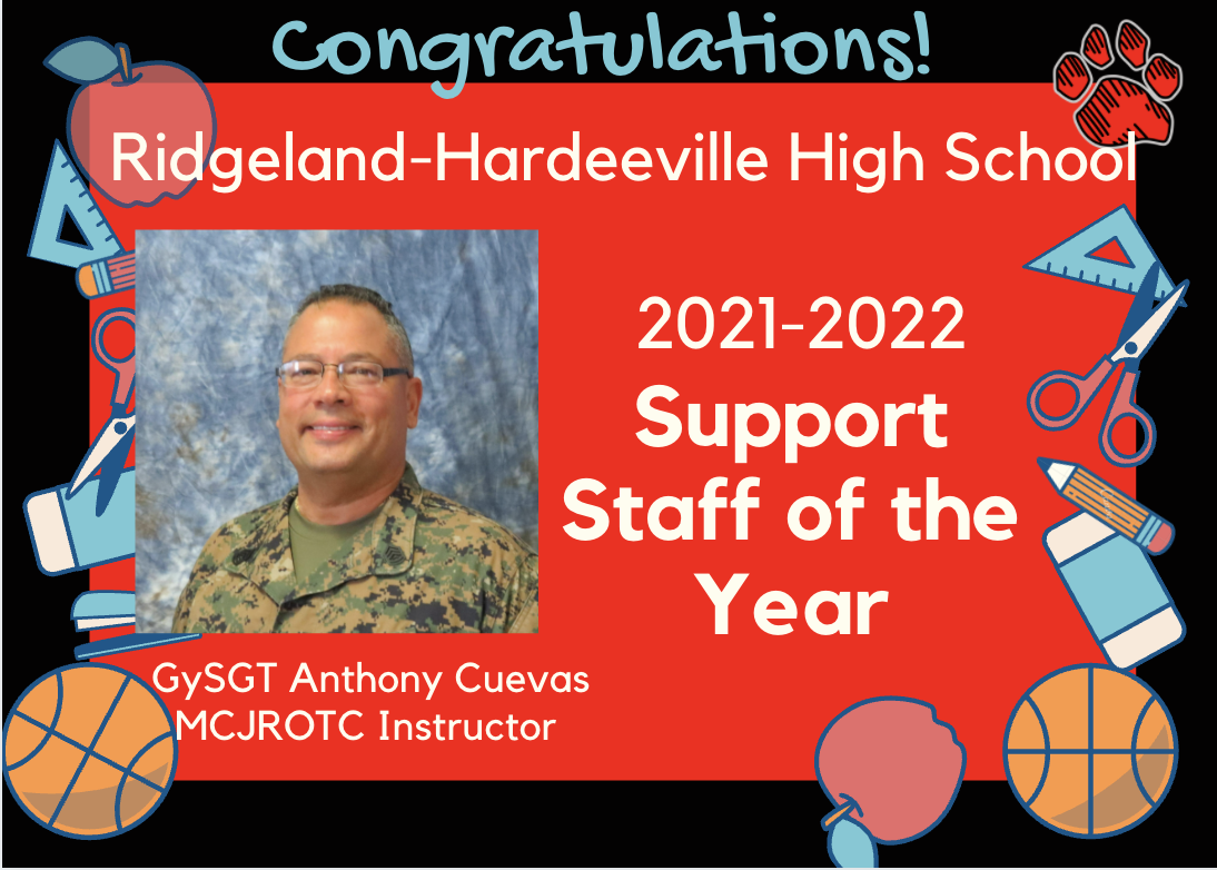 RHHS Support Teacher of the Year