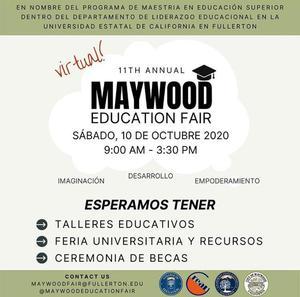 Maywood Education Fair Spanish Flyer