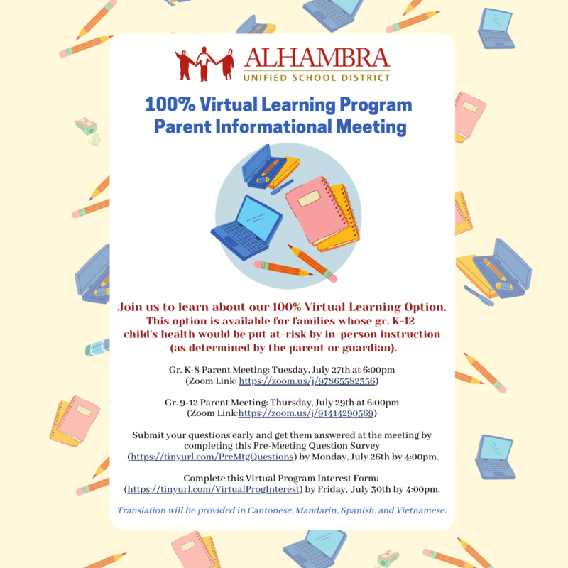 2021-2022 Virtual Learning Program Featured Photo