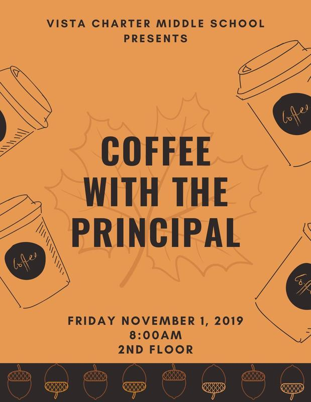 Coffee with the principal flyer