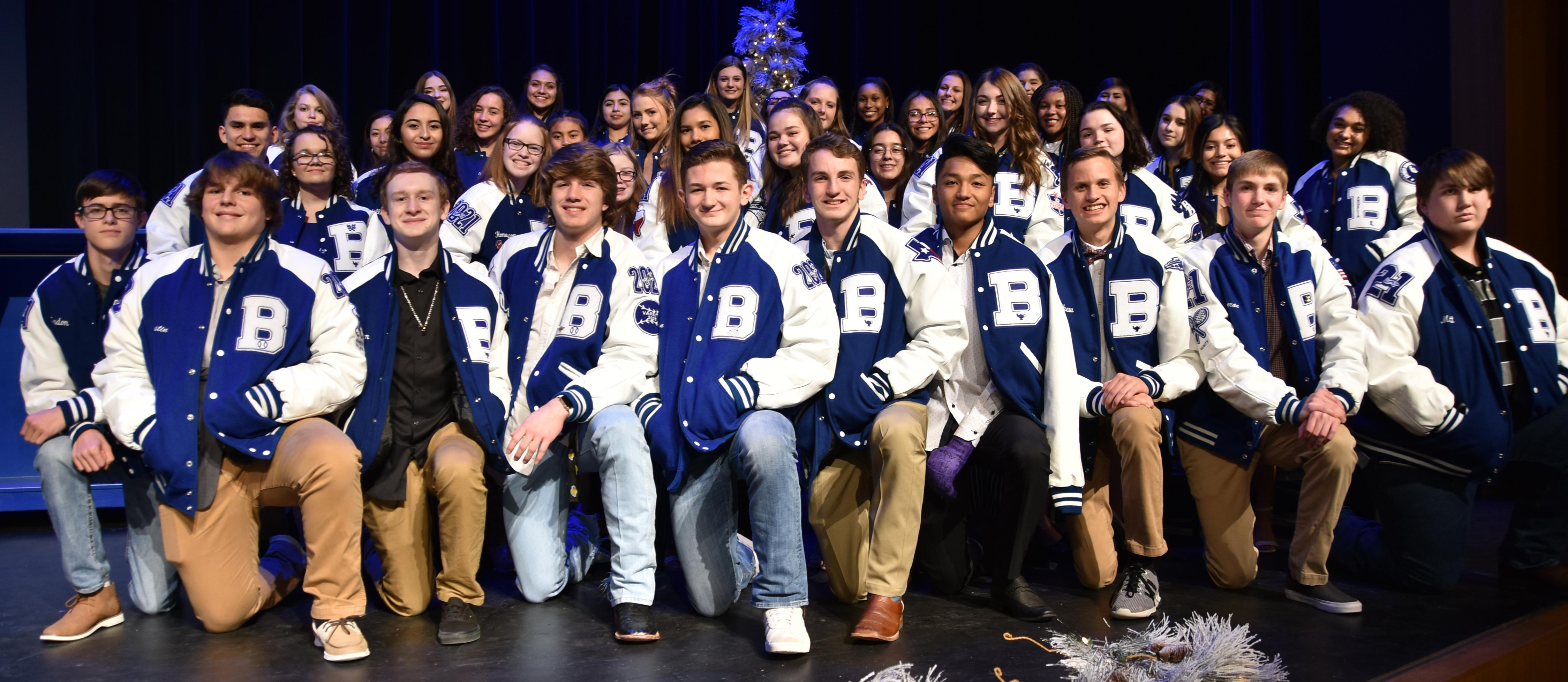 Brewer High School honored 10th through 12th graders who achieved a top 10 percent ranking for the 2017-18 school year during the Academic Letter Jacket Ceremony on Dec. 10.  - Sophomores