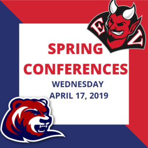 Spring Parent-Teacher Conferences are tomorrow, April 17, 2019.