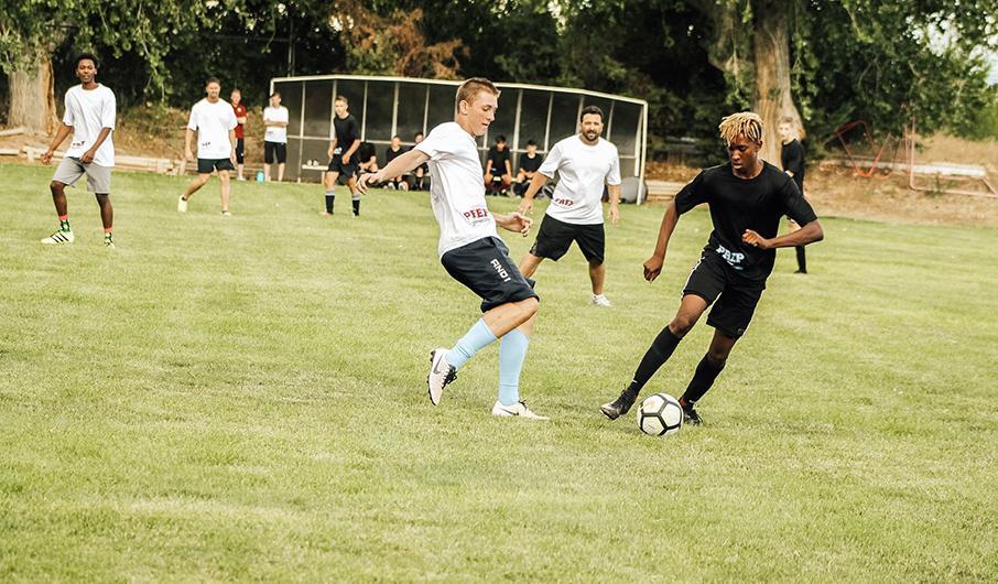 Alumni soccer game