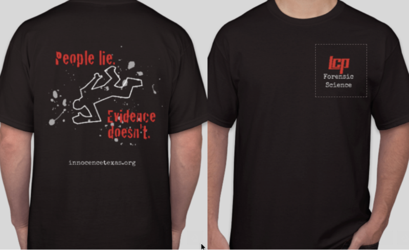 Forensics Shirts to Benefit Innocence Project of Texas Thumbnail Image
