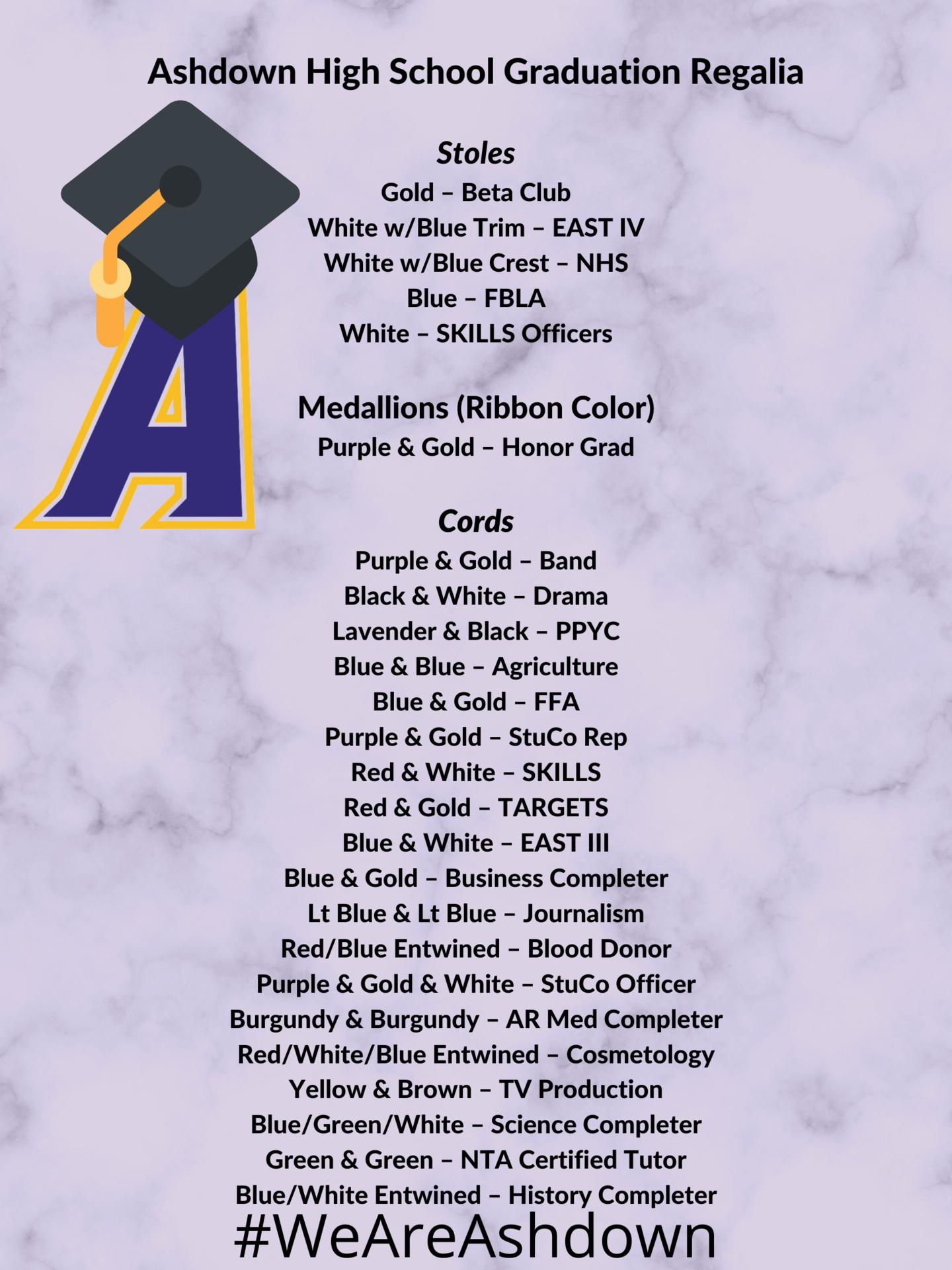 Graduation Regalia Chart