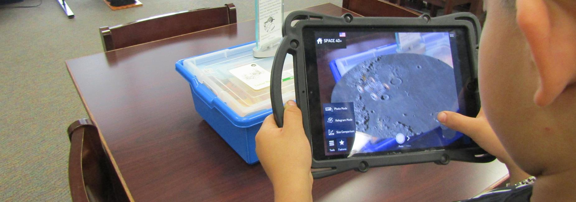 Student using Augmented Reality.