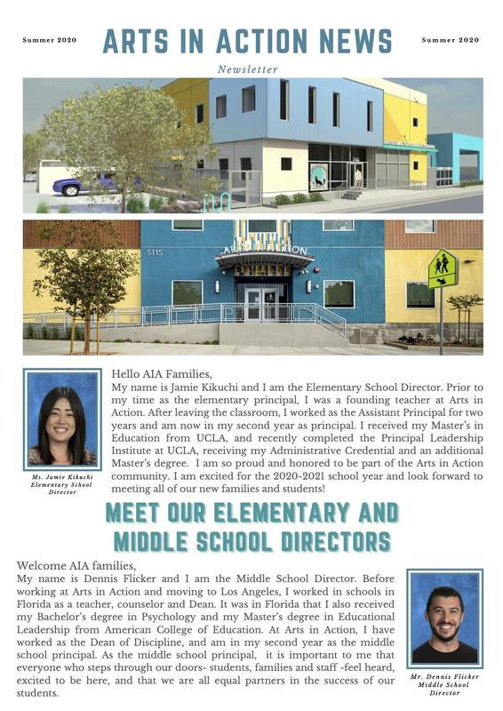 AIA's Summer Newsletter for new families Thumbnail Image