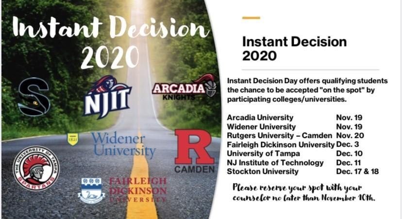 Instant Decision Day 2020