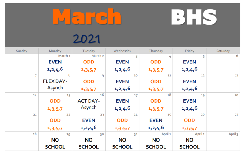 Orange and Blue Day Calendar Thumbnail Image