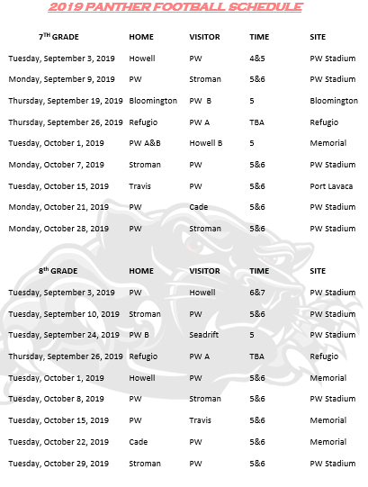 2019 Football Schedule Thumbnail Image