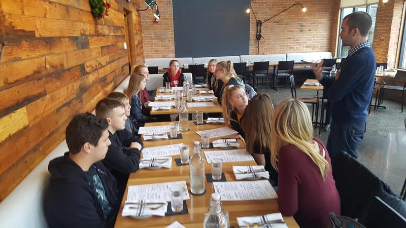 TKMS students visit a farm-to-table restaurant to learn about where their food comes from and how it is produced.
