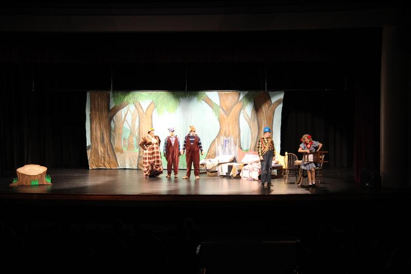 """Cast members from the Columbia Children's Theatre perform """"Goldilocks and the Three Bears"""" on Thursday, April 11th at the Lexington County School District Three Fine Arts Center.  The entire student body from B-L Elementary School enjoyed the show."""