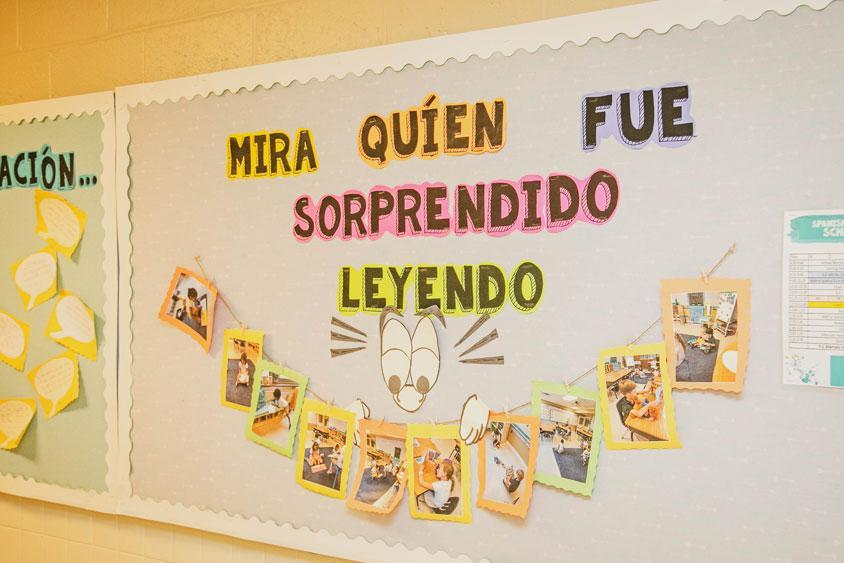 Inside a Spanish immersion classroom at HudsonWay Immersion School