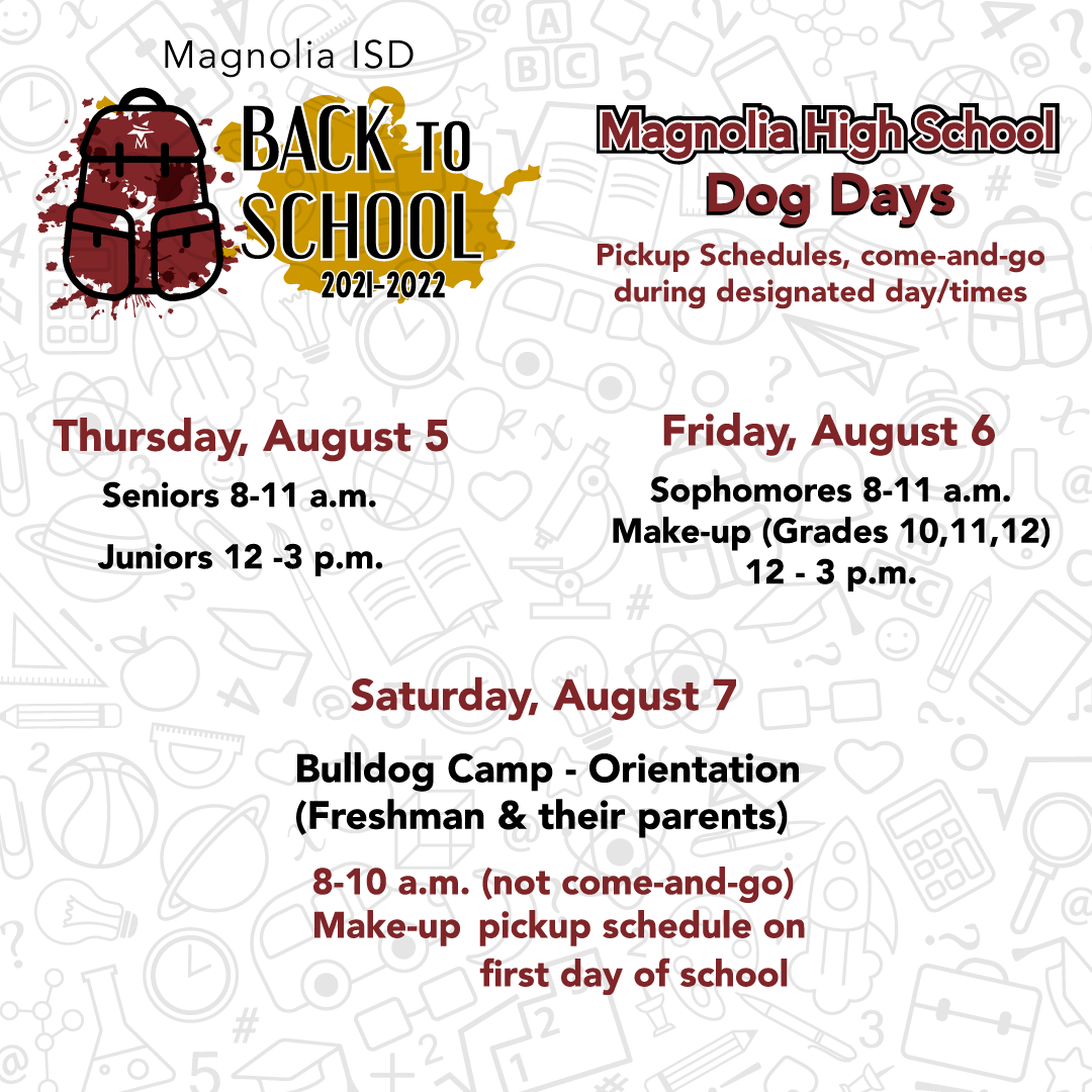 MHS Back to School Dates