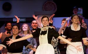photo of the ensemble dancing in The Drowsy Chaperone at OLSH