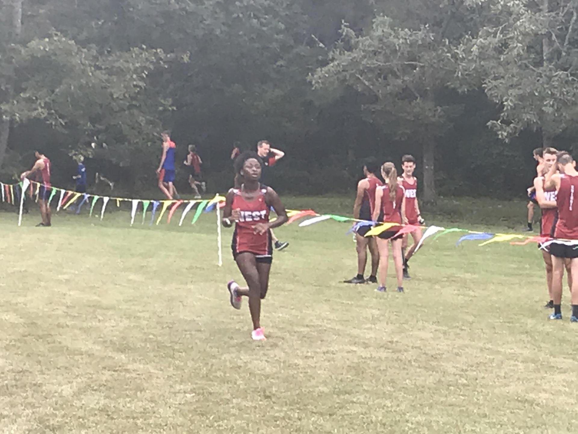 WLHS Cross Country Runner Near The Finish Line